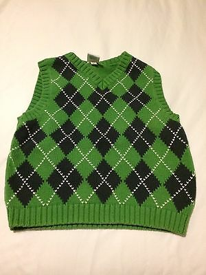 �� Baby Gap Boys 2 2T Sweater Vest Easter Navy Blue Green, EUC