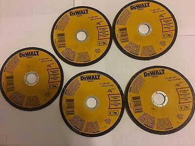 "5 pc Dewalt  DWA8050 Metal Cut-Off Wheel 4 "" X 0.045 "" X 5/8 """