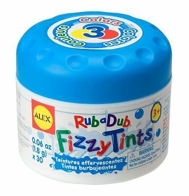 Alex Rub a Dub Fizzy Tints Baby Children's Water Colour Changing Bath Time Toy
