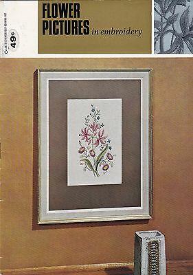 Flower Pictures in Embroidery - Craft Instruction Booklet
