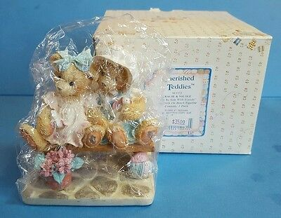 "NIB-CHERISHED TEDDIES 1992 Tracie and Nicole ""Side By Side With Friends"" 911372"