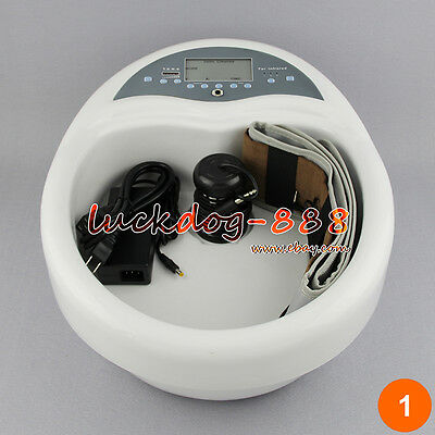 PRO 3in1 LCD IONIC DETOX FOOT SPA FOOT BATH TUB  INFRARED BELT + PADS + 1 ARRAY