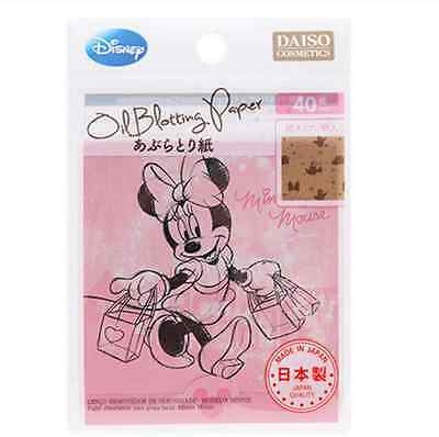 Daiso Japan Disney Minnie Mouse Oil Blotting Paper 40 Sheets Made In Japan