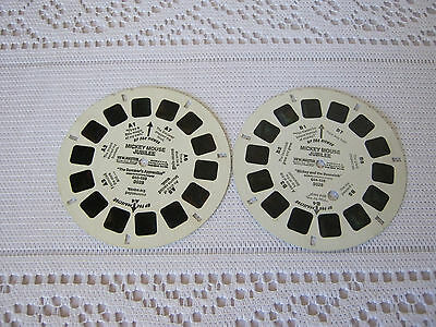 ViewMaster Mickey Mouse Jubilee 2 reels A & B Mickey & the Beanstalk View master