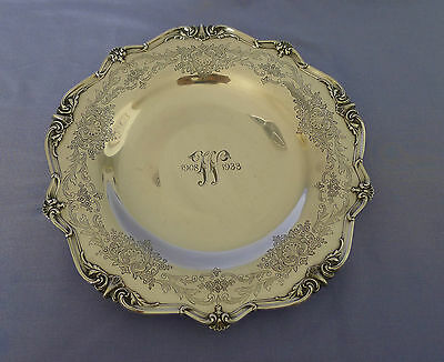 """Superb Frank M Whiting Sterling Silver Warwick Footed Serving Tray Platter 12"""""""
