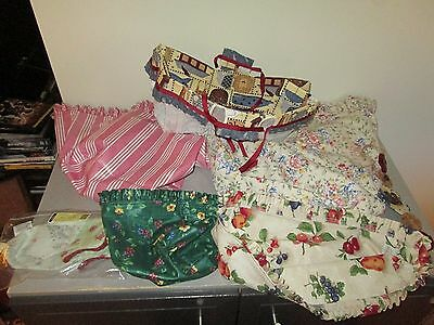 Longaberger Nice Lot of 5 Fabric Basket Liners