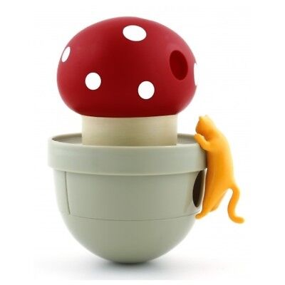 Ca-Tumbler Wobble Cat Treat & Food Dispenser - Mushroom
