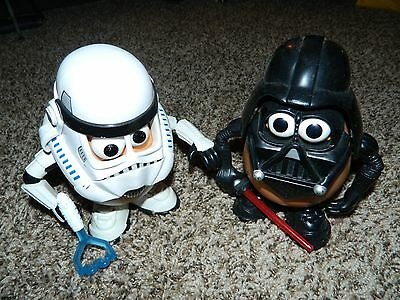 Star Wars Mr Potato Head Toys Storm Trooper  & Darth Vader