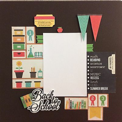 handmade scrapbook page 12 X 12 Back To School Themed Layout