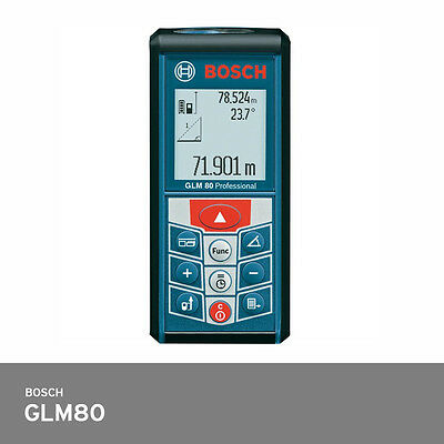 Bosch GLM 80 Laser Distance Meter 80m IP54 +/-1.5mm Accuracy Metric System Only