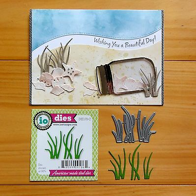 IMPRESSION OBSESSION SMALL GRASS BEACH SEASIDE 3 SHAPES Cutting Die - BNIP