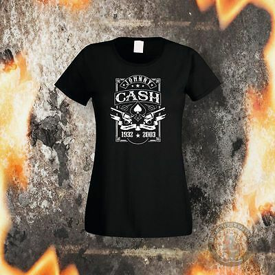 Johnny Cash Guns Girlie Grösse S-Xl