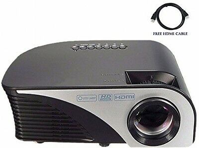 LCD LED Mini Video Projector Multimedia Home Theater USB/AV/SD/HDMI/VGA NEW