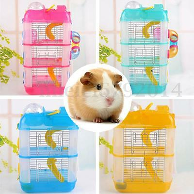 NEW Hamster Gerbil Mouse Small Pet Cage Water Bottle Wheel 2 / 3 Storey Levels