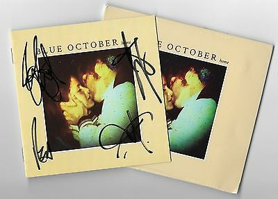Blue October REAL hand SIGNED Autographed Home CD by all members #1 COA