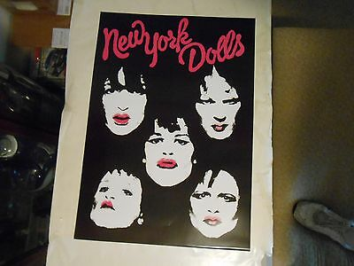 CLASSIC NEW YORK DOLLS ROCK AN ROLL POSTER.its a personality crisis,DAVID JO