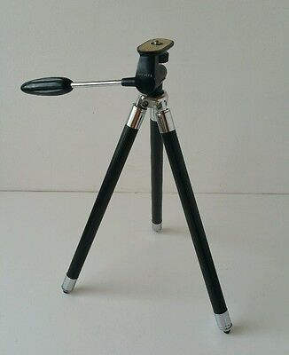 Vintage Hanimex B Camera Tripod in Leather Carry Case: (1960's)