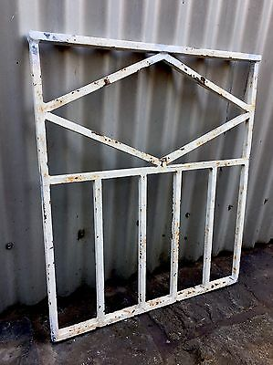 Vintage Retro Decorative Wrought Iron Metal Grill Section Garden Wall Panel Melb