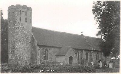 Suffolk - RISBY, Church - Real Photo