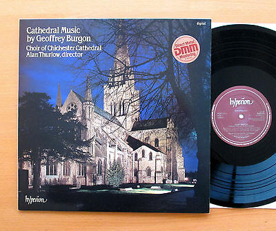 Hyperion A66123 Cathedral Music By Geoffrey Burgon Chichester Choir NEAR MINT