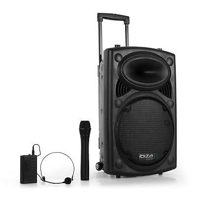 Professional On Stage Bluetooth Pa Speaker With Dj Microphone + Wireless Headset