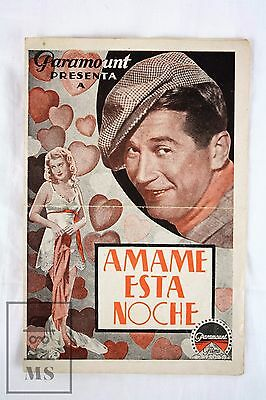 Love Me Tonight - Maurice Chevalier, Jeanette MacDonald - 1932 Movie Leaflet