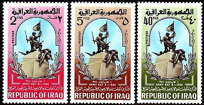 Irak Iraq 1966 ** Mi.438/40 Tag der Armee Army Day Denkmal Monument