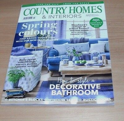 Country Homes & Interiors magazine MAR 2017 Spring Colours, Butchers Blocks &