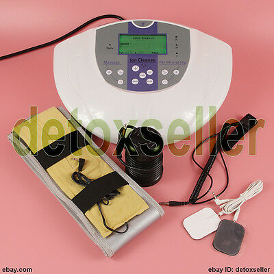 Foot Detox Machine Ion Foot Bath Spa Cell Cleanse & Therapy Massage Pad Fir Belt
