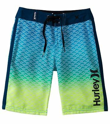Hurley Youth Scallops Boardshorts Blue Force 26