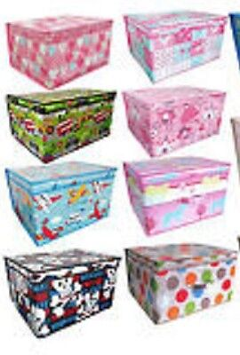 Jumbo Storage Trunk Chest Toy Laundry Box Bedroom Foldable Toy Box