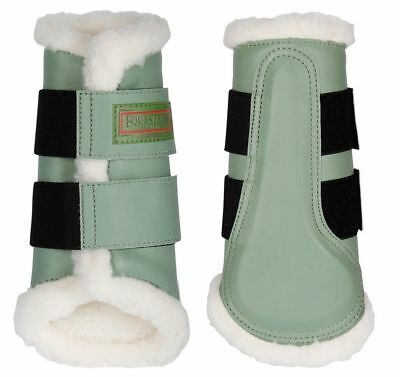 Flextrainer Horse Protection Boots with Fleece Lining. - Sea Spray Large