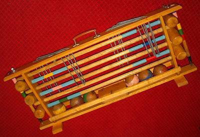 Vintage Quality Full Size Croquet 6 Player Set - In Carry/Storage Rack