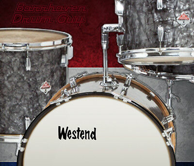 Westend, Vintage, Repro Logo #2 - Adhesive Vinyl Decal, for Bass Drum Reso Head