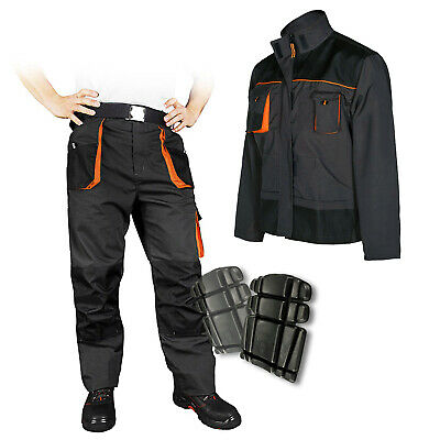 NEW MENS Work Trousers Heavy Duty Pants Knee Pad Cargo Combat Multi Pocket UK