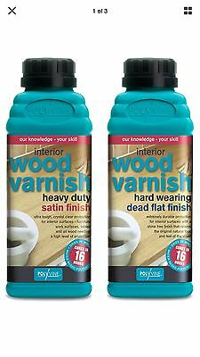 Polyvine Wax Finish Varnish Dead Flat  Finish 1L Clear interior wood &furniture