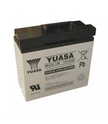 Yuasa 22Ah Golf Battery with T-Bar fitting, suitable for Powerkaddy