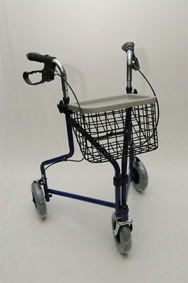 "Rollator/Wheelie Walker - 3 Wheel Lightweight Walker -Steel Frame- 8"" Wheels ..."