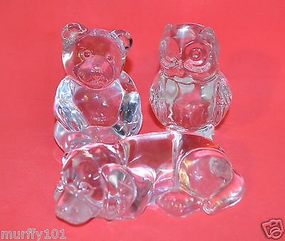 PRINCESS HOUSE - WISE OWL, SITTING BEAR, HOUND DOG CRYSTAL TREASURE with Decal