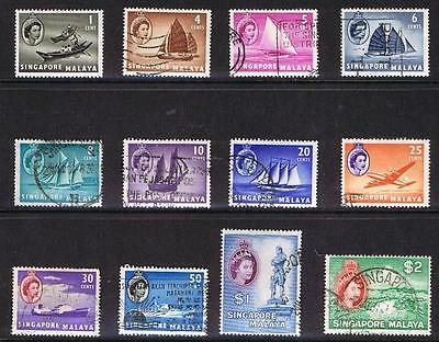 Singapore 1955 QEII Ships and Scenes - SS - Used