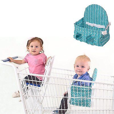 Buggy Bench Shopping Cart Seat for 2nd Child Caribbean Blue Holds Up to 40 lbs.