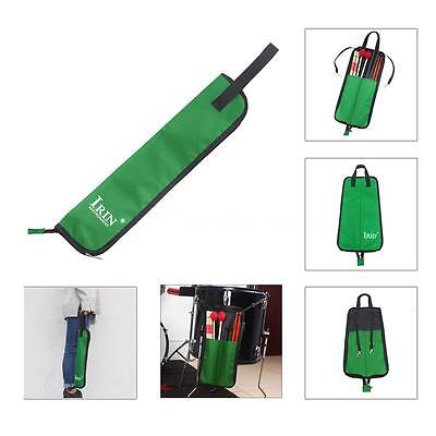 Drum Stick Bag Case WaterpROOF 600D with Carrying Strap for Drumstick Green E8W0