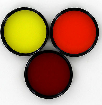 48mm red, orange, & yellow (set of 3 contrast filters) new old stock