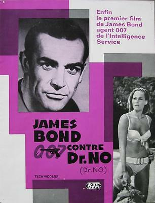 DR NO 1962 James Bond / SEAN CONNERY FRENCH PRESS-BOOK