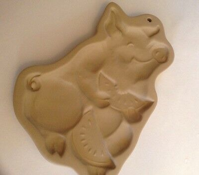 Brown Bag Cookie Art 1992 Pig Eating Watermelon Mold Hill Design Chocolate Paper