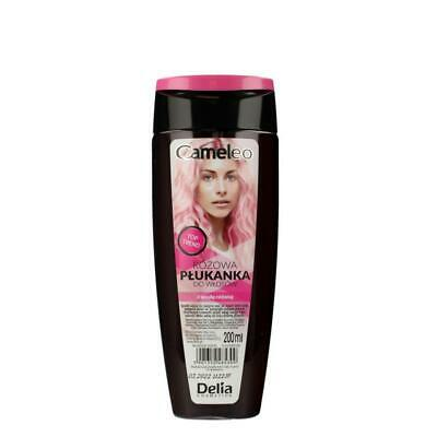 DELIA CAMELEO NO YELLOW COLOUR HAIR RINSE PINK 0% Yellowing Effect 200ml