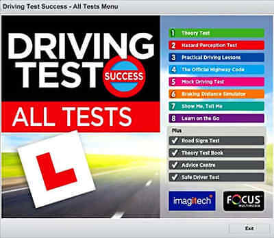 Driving Theory Test Learn Success Practical Licence Pass Hazard Perception PC CD