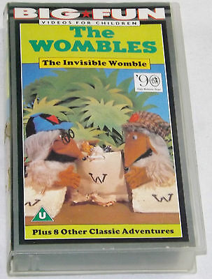 The Wombles The Invisible Womble VHS Video Tape Collectable