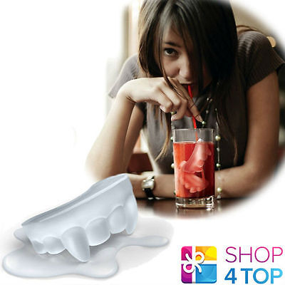 Vampire Fangs Teeth Shape Ice Cube Jelly Coffin Shaped Maker Tray Mould Mold New