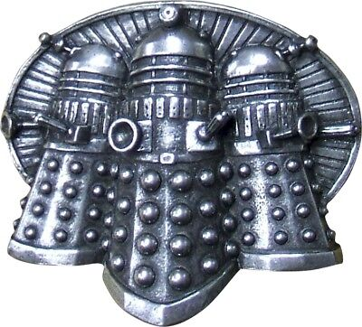 Doctor Who Dalek Trio Pewter Belt Buckle - OFFICIAL PRODUCT - A perfect gift!